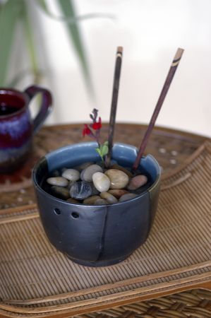 Metaphoric Stones and Water in a spa setting