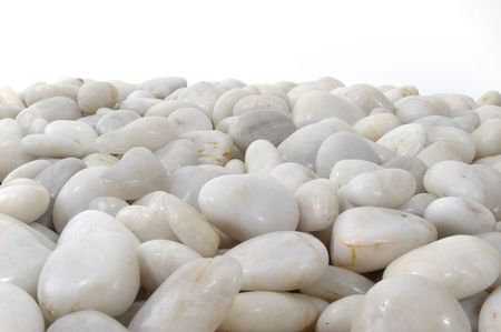 White stones background horizontal isolated. Stock Photo
