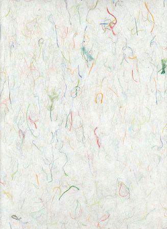 Colorful Silk Inclusion Paper. Natural fiber Art paper.