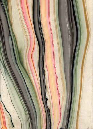 Hand marbled paper with a liquid flow to it. 스톡 콘텐츠
