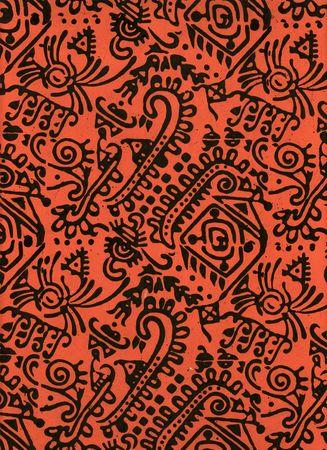 Red India Block Printed Paper
