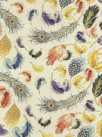 French printed feather paper.