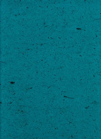 inclusions: Teal handmade particle paper with inclusions.  Stock Photo