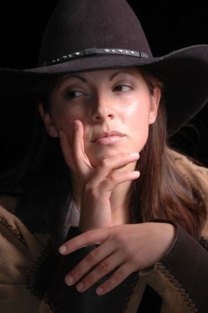 Moody Cowgirl portrait. photo