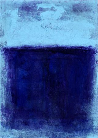Blue Abstract painting.