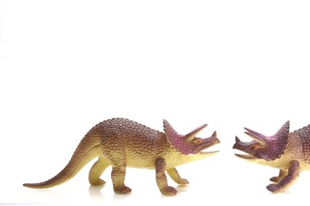 Triceritops meet. Plastic toy. Stock Photo - 327568