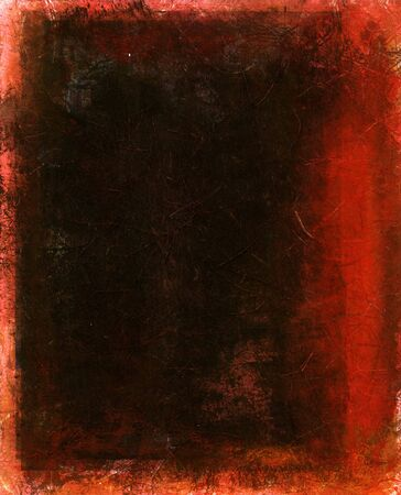 textural: Dark Abstract painting with red. Stock Photo