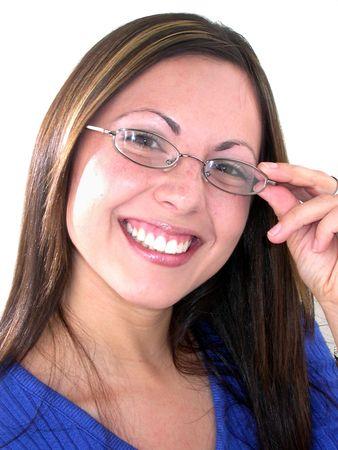 Competent and friendly young woman. Фото со стока