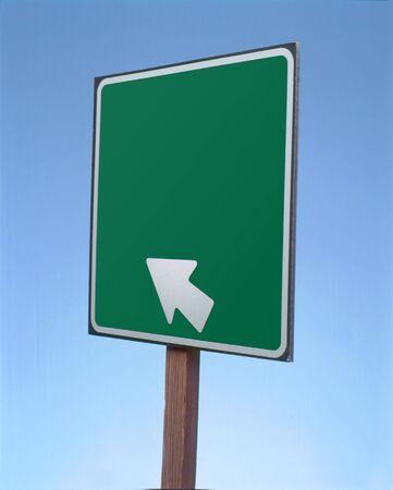 Blanco Arrow Road Sign