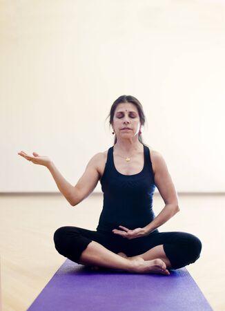 gestural: Woman in Yoga Mudra.