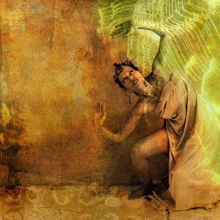 alquimia: Diosa de la mujer que se vienen m�s por la luz. Foto de archivo
