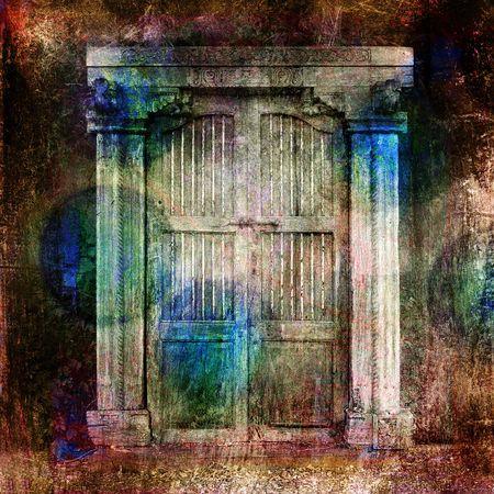 Antique Doors. Photo based illustration.