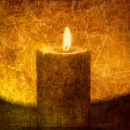 textural: Textural image of a candle. Photo based illustration.
