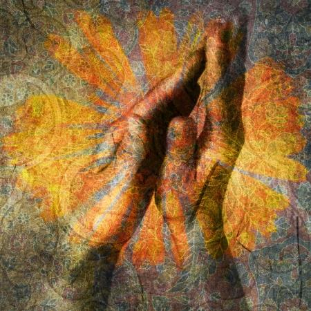Hands in prayer. Photo based illustration. Stock Illustration - 5169122