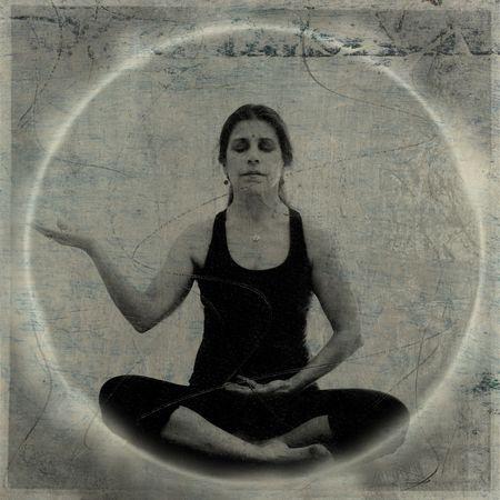 Woman in Abundance meditation Foto de archivo