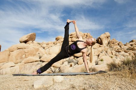 Woman in yoga plank pose outdoors. Stock Photo - 6862796