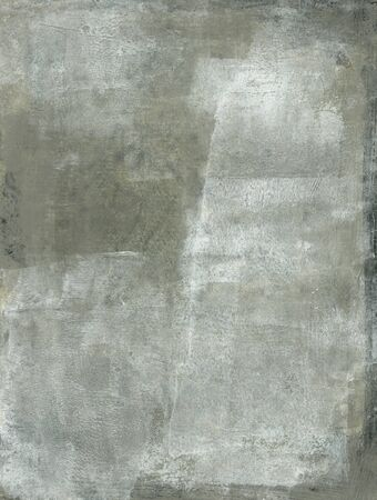 Abstract painting with subtle gray and white tones