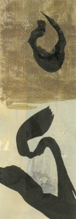 enso: Abstract black ink enso zen art