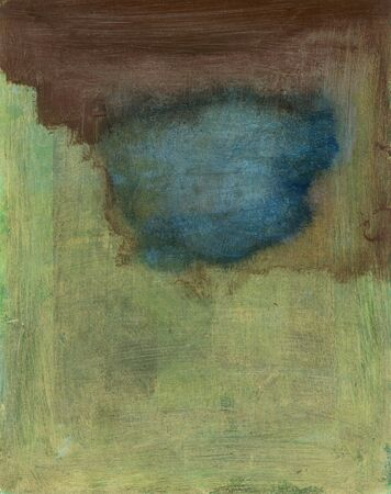 earth tone: Abstract painting blue pool in earth tones Stock Photo