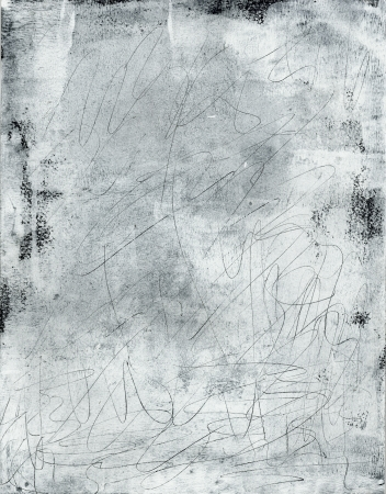 squiggles: Abstract texture painting pale squiggles on white. Stock Photo