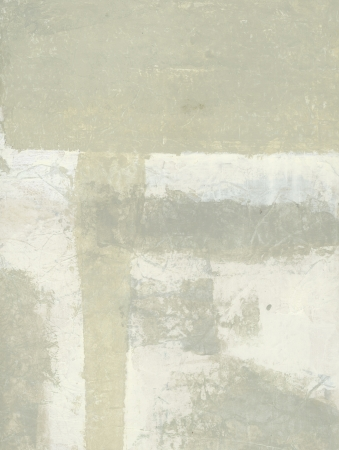 Abstract painting of neutral tones on asian substrates