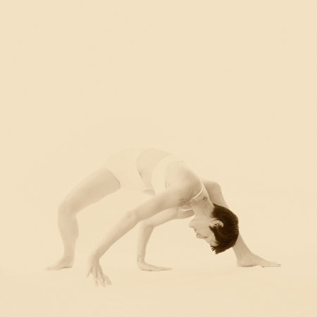 women s health: Modern dancer in introspective yoga informed movement