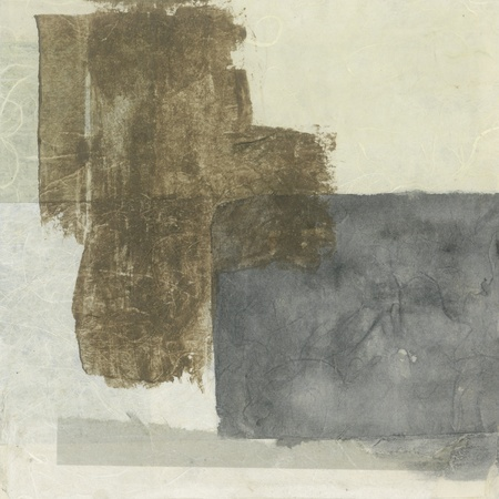 textural: Abstract grey and brown tones textural paper collage painting  Stock Photo