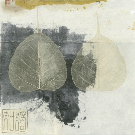 Wabi-sabi Bodhi leaf collage
