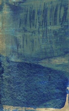 earth tone: Abstract painting symbolic water blue