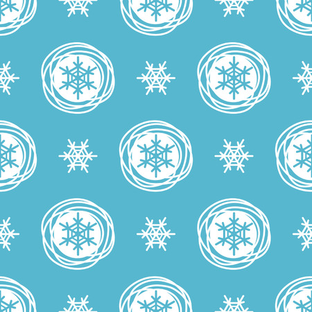 pattern: Winter, New Year, Christmas seamless vector pattern. Snowflakes.