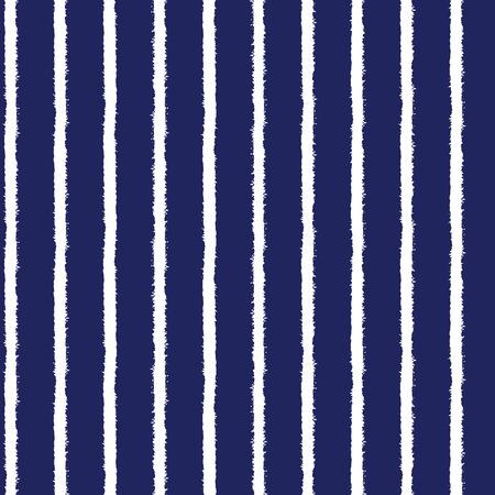 rough sea: Brush stripes seamless pattern Illustration