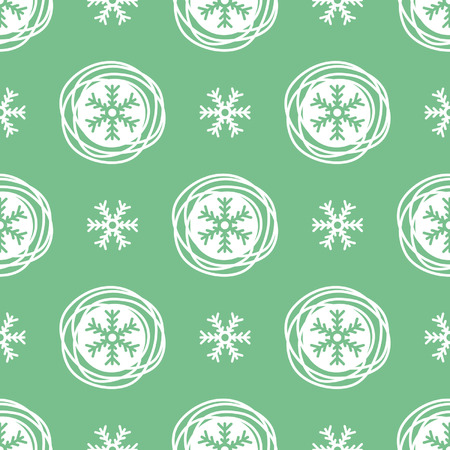 christmas ornamentation: Winter, New Year, Christmas seamless vector pattern. Snowflakes.