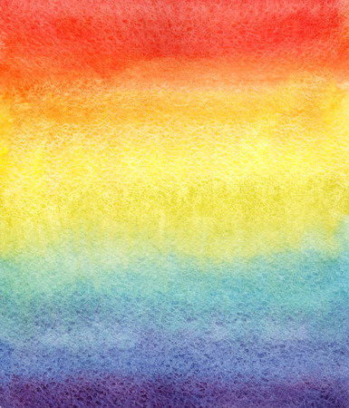 Rainbow watercolor gradient. Hand drawn background.
