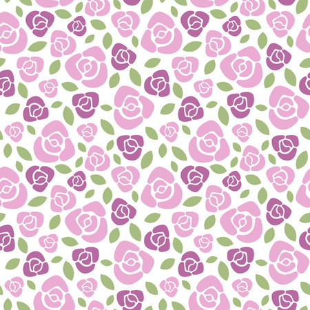 repeats: Roses floral vector seamless pattern.