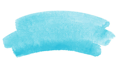 skyblue: Watercolor vector brush strokes, sky-blue. A piece of heaven or water splash illustration.
