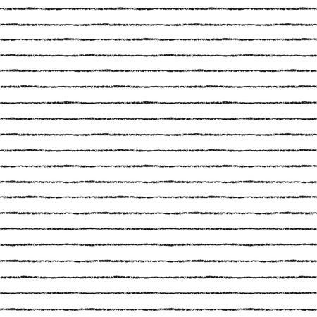 Borstel strepen vector naadloze patroon. Dunne zwarte strepen op een witte achtergrond. Gestreepte monochrome achtergrond.