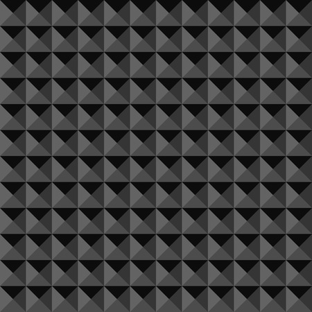 optical image: Monochrome triangle vector seamless pattern. Volume optical illusion. Illustration