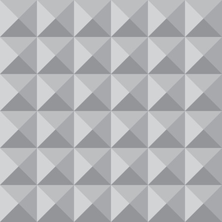 optical image: Monochrome triangles vector seamless pattern. Volume optical illusion. Shades of grey.