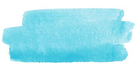 Aquarel vector penseelstreek, hemelsblauw. Een stukje van de hemel of water splash afbeelding. Stock Illustratie