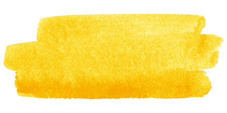 Yellow watercolor vector brush stroke. Space for text.