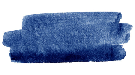 azul marino: Acuarela pincelada, azul oscuro