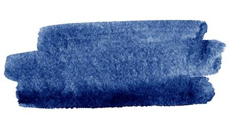 Aquarelle coup de pinceau, bleu foncé