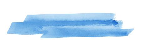 Sky-blue watercolor vector brush stroke.