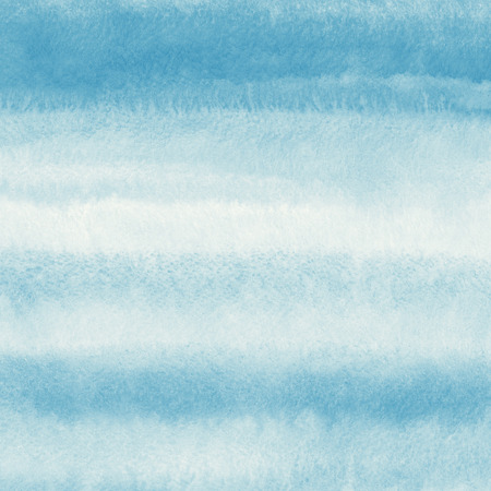 Abstract watercolor background. Pastel blue and white striped gradient fill. Hand drawn texture.