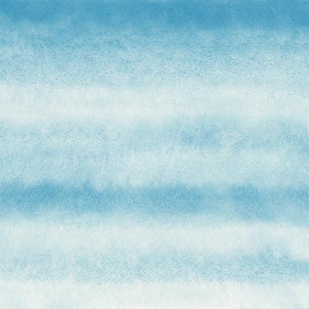 水彩の抽象的な背景。パステル ブルーと白のストライプのグラデーション。手描きのテクスチャです。 写真素材