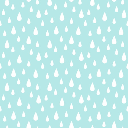 vector pattern: Rain seamless vector pattern. Falling water drops. Rainy background.