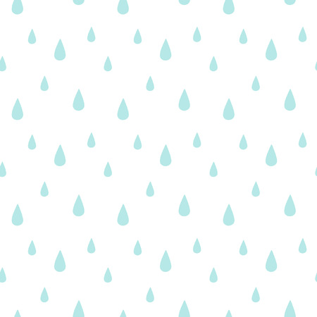Rain seamless vector pattern. Falling water drops. Rainy background.