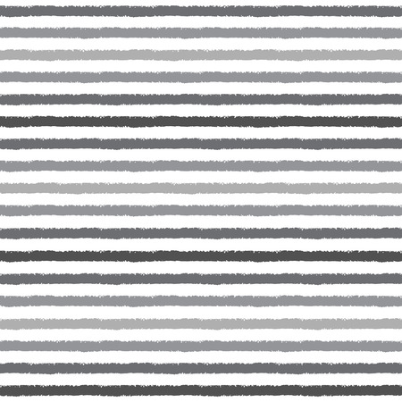 Brush drawn stripes vector seamless pattern. Shades of grey stripes on white backdrop. Striped monochrome background. Rough edges.