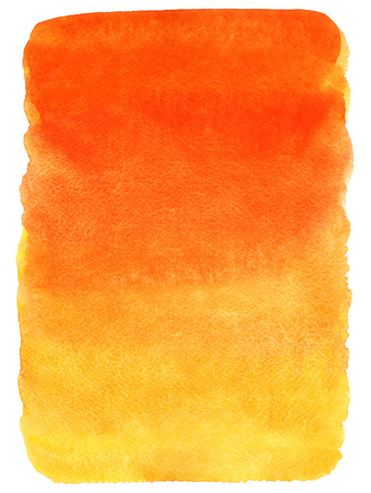 orange sunset: Fire or sunset colors watercolor background. Red, orange, yellow gradient fill. Hand drawn texture.