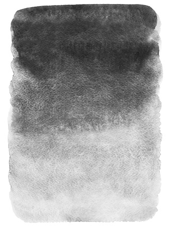 Grey monochrome gradient watercolor background. Hand drawn texture. Foggy, misty backdrop. Rough, artistic edges. Stockfoto